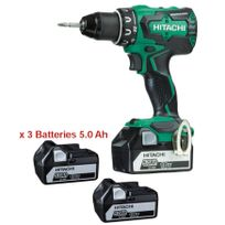 Perceuse visseuse 18V 5.0Ah Li-Ion - 3 batteries, chargeur, coffret - DS18DBSL5AX3