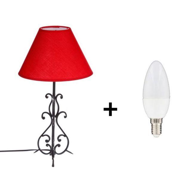 En Forgé Ampoule Lampe Arabesque Atmosphera À Poser Incluse Fer OukiPXZ