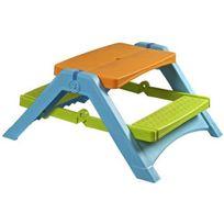 RUE DU COMMERCE - Table de pique-nique pliante pour enfant - Plastique - 376
