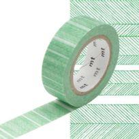 Masking Tape - Mt 15 mm Bande hachuré vert - MT
