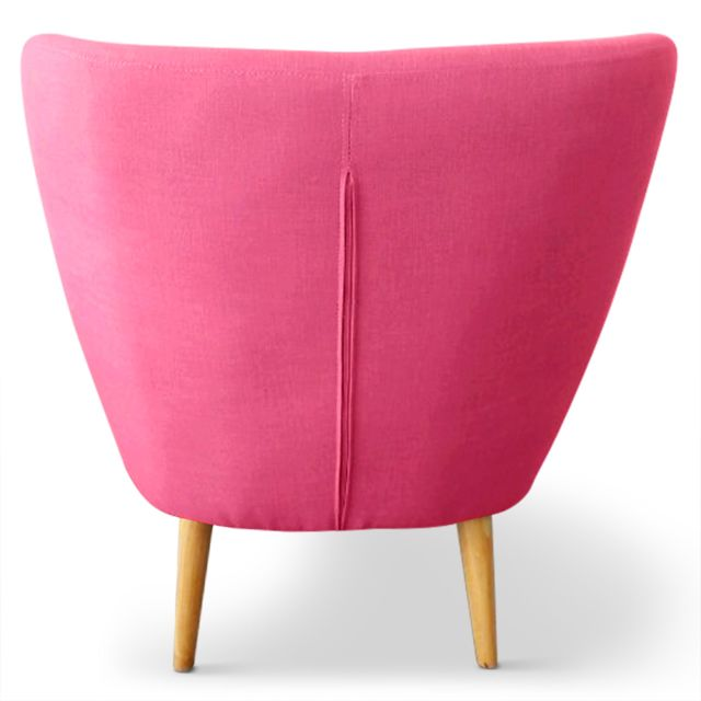 MENZZO - Fauteuil scandinave Molly Tissu Rose