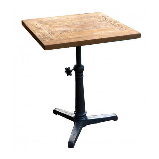 Mathi Design Bistrot - Table hauteur réglable bois massif