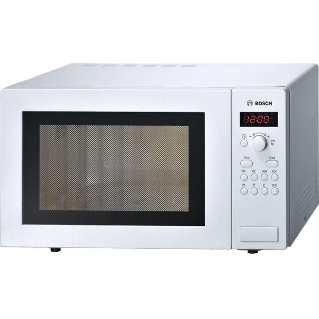 Bosch micro-ondes 25l 900w blanc - hmt84m421