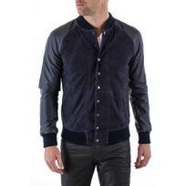 Napp Jeans - Blouson College leather jacket navy zz