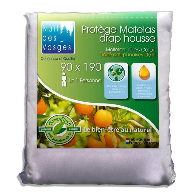 Nuit Des Vosges - Alèse housse molleton 100% coton - traitement  anti-punaise de bb59ab5746c4