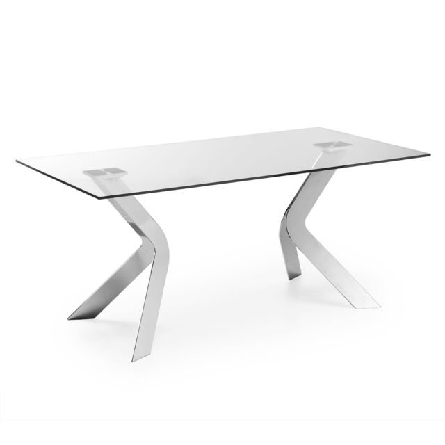 Kavehome Table Westport 180x90 cm, argent