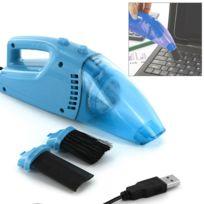 Touslescadeaux - Aspirateur Usb - pour nettoyer clavier de pc, ordinateur, écran - Bleu