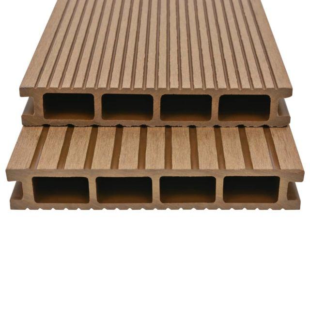 Icaverne - Tapis et revêtements de sol categorie Panneaux de terrasse avec  accessoires Wpc 10 m² 2,2 m Teck