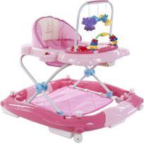 Sun Baby - Trotteur balancelle interactive jouets sons lumières bébé 6-12 mois Petit Chat   Rose
