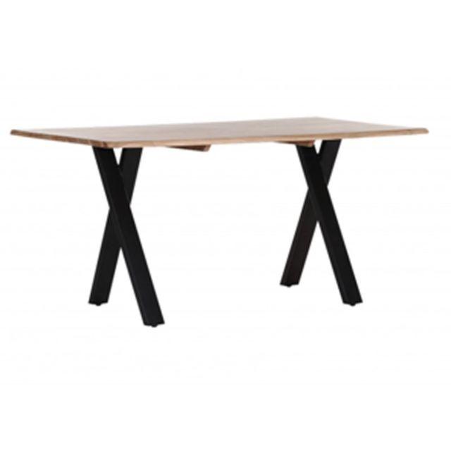 Zons Table à manger 6personnes en bois massif sheesham 160CM