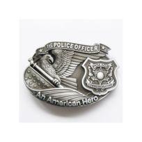 fa3c9c8386e6 Universel - Boucle de ceinture policier usa alu american heroes police