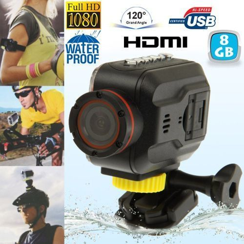 Yonis - Mini Caméra sportive Full Hd waterproof Grand angle étanche Hdmi 8 Go