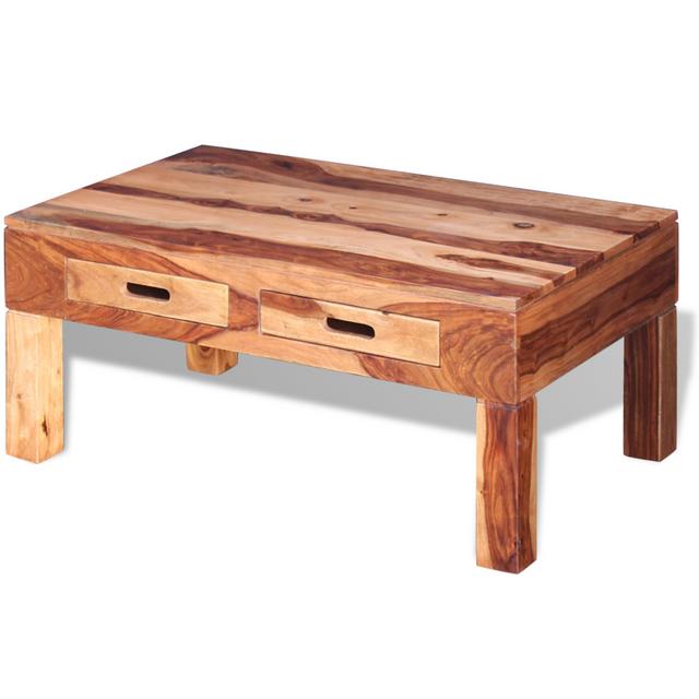Vidaxl - Table basse Bois de sesham Marron - 90cm x 40cm x 55cm