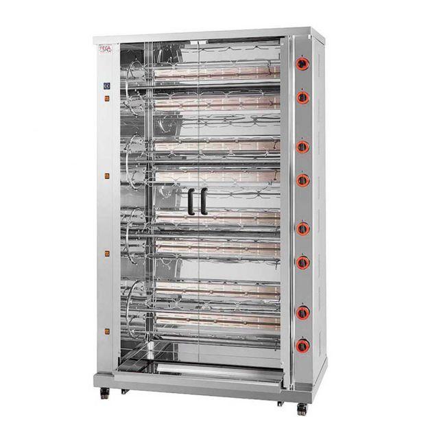 Materiel Chr Pro Rôtissoire Professionnelle à Gaz double moteur - 96 Poulets - Féca