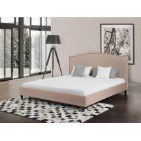 Beliani - Lit en tissu - lit double 180x200 cm - sommier inclus - Montpellier - beige