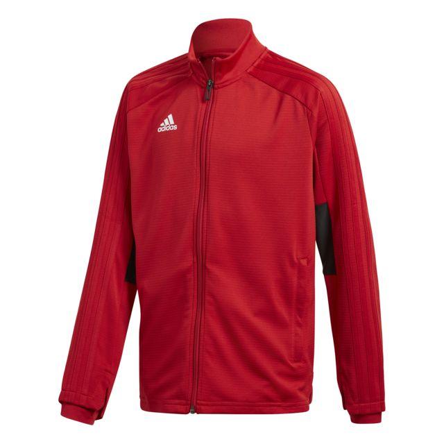 Adidas veste d entra nement junior condivo 18 10 12 ans pas cher achat vente coupe vent - Coupe vent adidas junior ...