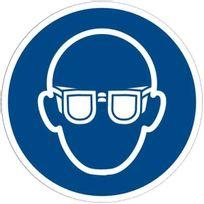 - panneau en pvc rond adhésif - lunettes de protection obligatoires