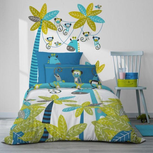 selene et gaia sticker tte de lit singe bleu pour enfant cocoloco couleur - Tete De Lit Enfant