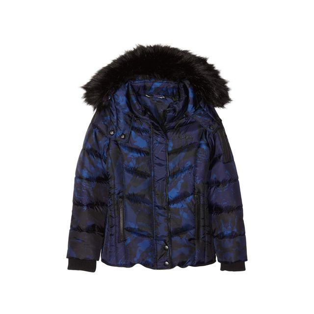 mode designer 92cff baf1e Kaporal Dandy Manteau Fille Bleu Marine