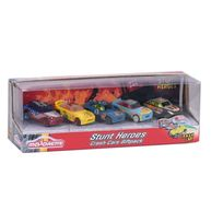 Smoby Toys - Coffret de 5 voitures Stunt heros