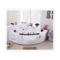 Rocambolesk - Magnifique baignoire balnéo luxe chromothérapie + radio + contrôle digitale + ozonateur kool 2 personnes