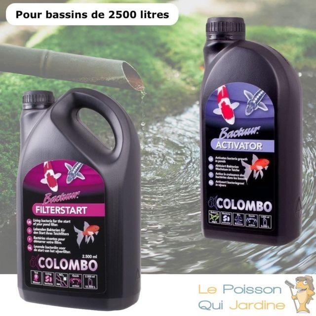 Le Poisson Qui Jardine Pack Bactéries + Activateur pour bassins de jardin de 2500 litres