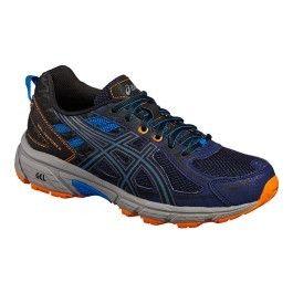 lowest price 1bd27 9ef35 Asics - Chaussures Asics Gel-venture 6 Gs bleu noir orange enfant