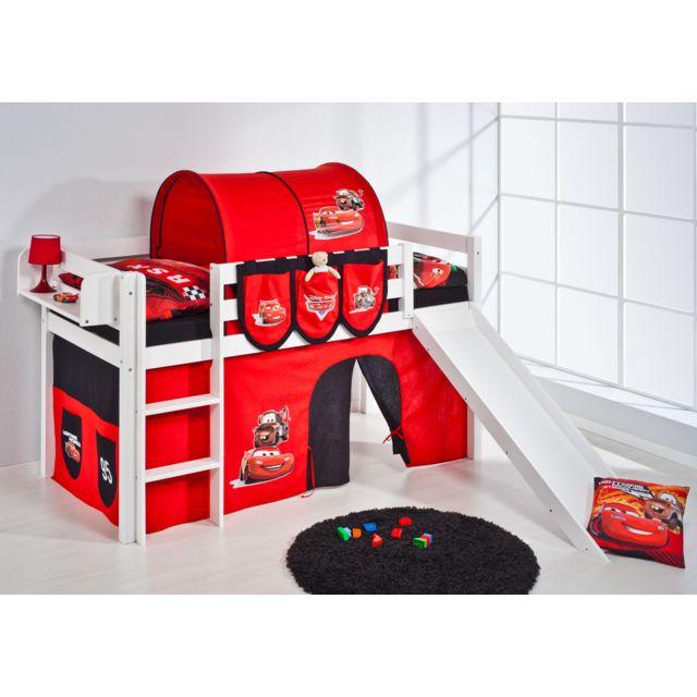 lilokids jelle3054kwr cars pas cher achat vente lit enfant rueducommerce. Black Bedroom Furniture Sets. Home Design Ideas