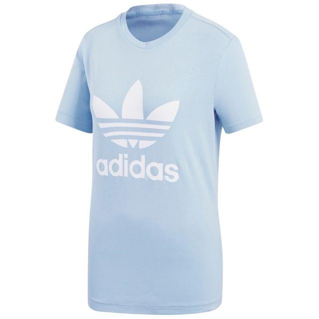 t shirt bleu adidas femme