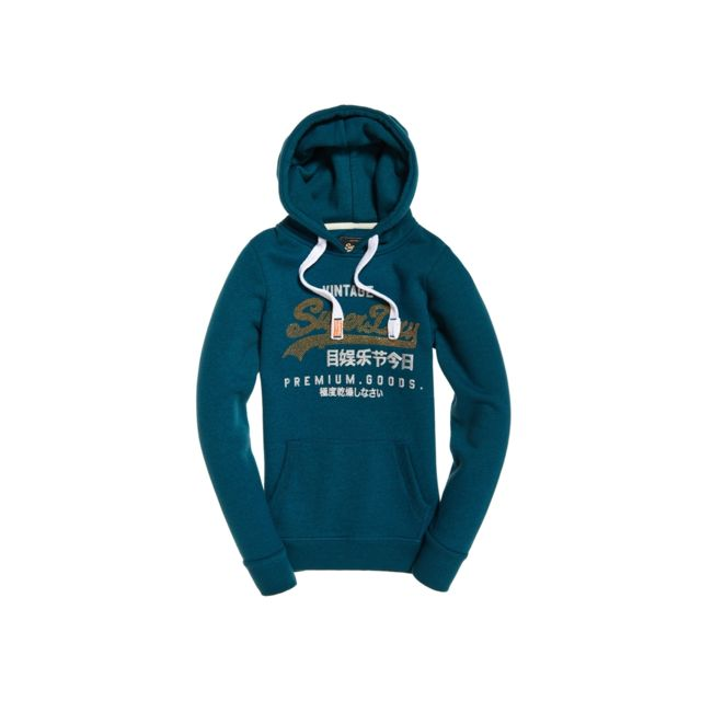 Superdry - Sweat Premium Goods Rnestne Entry Hood Atlantic Bleu ... 1eacc500e075