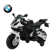 BMW MOTOR SPORT - Moto électrique bmw pour enfant double moteur jeu éducatif en pp noir et blanc 07wt