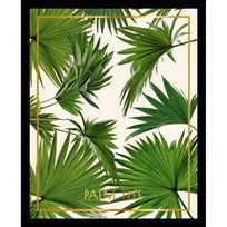 G&C Interiors - Cadre décoratif feuille tropicale en vert sur fond blanc en bois Mdf et verre Tropisk - 30x40cm