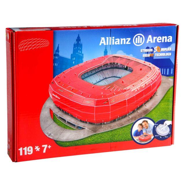 MEGABLEU Puzzle 3D 119 pièces : Stade de foot : Allianz Arena Bayern de Munich