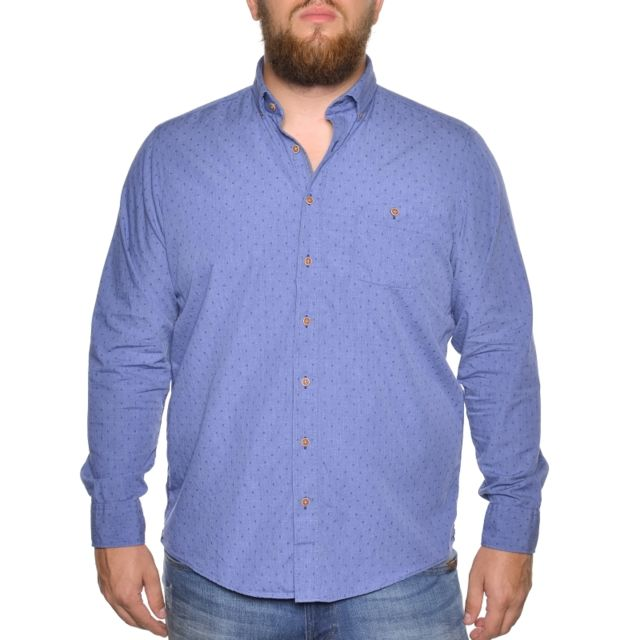 &TRADITION Chemise bleu à petits motifs