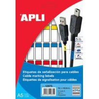 Apli - Etiquettes pour câbles Agipa 19,1 x 48,8 mm
