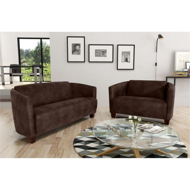 Rocambolesk Canapé Havana 3+2 Tobago 14 brun sofa divan