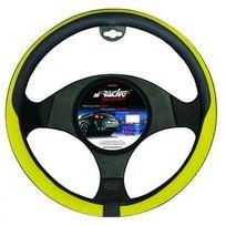 Simoni Racing - Couvre-Volant Simili cuir Tidy Noir et Jaune