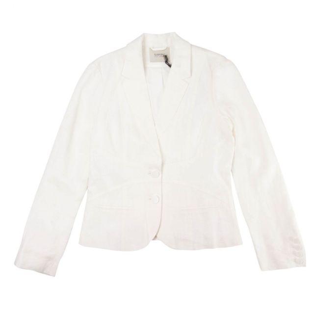Sarah Lawrence Veste de tailleur blanche femme pas cher