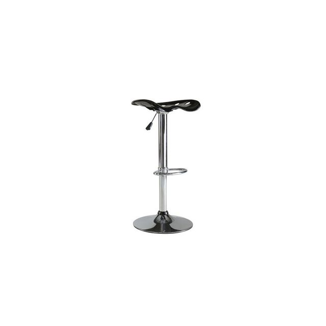 Rocambolesk Set Of 2 Tracto Barstools Chrome/NOIR