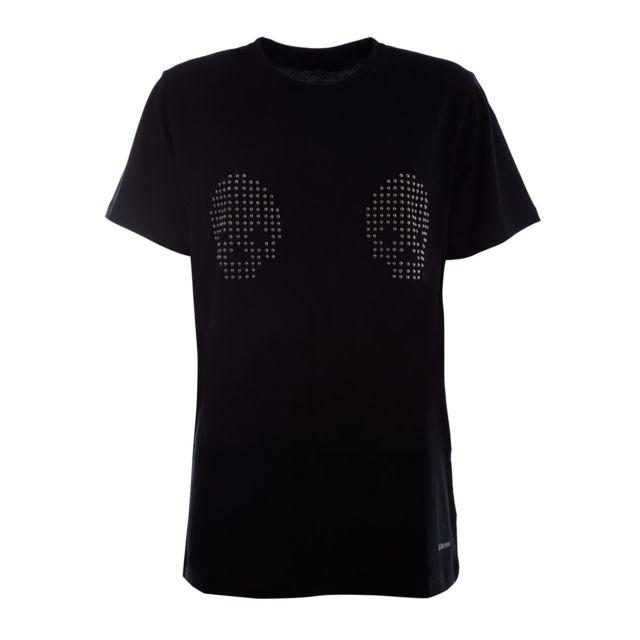 Dr. Martens Femme Ac671001 Noir Coton T-shirt