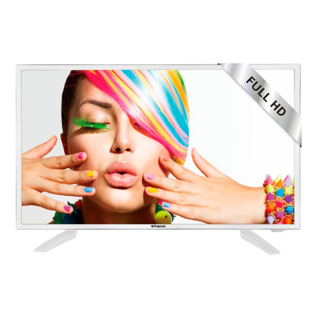 "POLAROID TV LED 24"" 61 cm TVC24HDP.112 - Blanc TELEVISEUR LED 24"" - 61 cm1920 x 1080 - FULL HD - 60 Hz - 16/92 x 3 Watt"