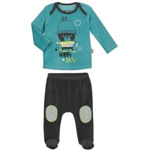 fbf0733fca8a2 Petit Beguin - Pyjama bébé 2 pièces velours avec pieds Happysnow - Taille -  9 mois
