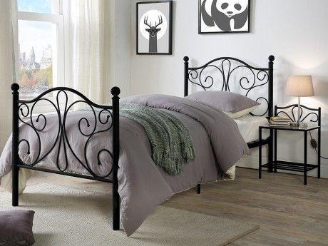 marque generique lit didon 90x190 cm m tal noir pas cher achat vente lit enfant. Black Bedroom Furniture Sets. Home Design Ideas