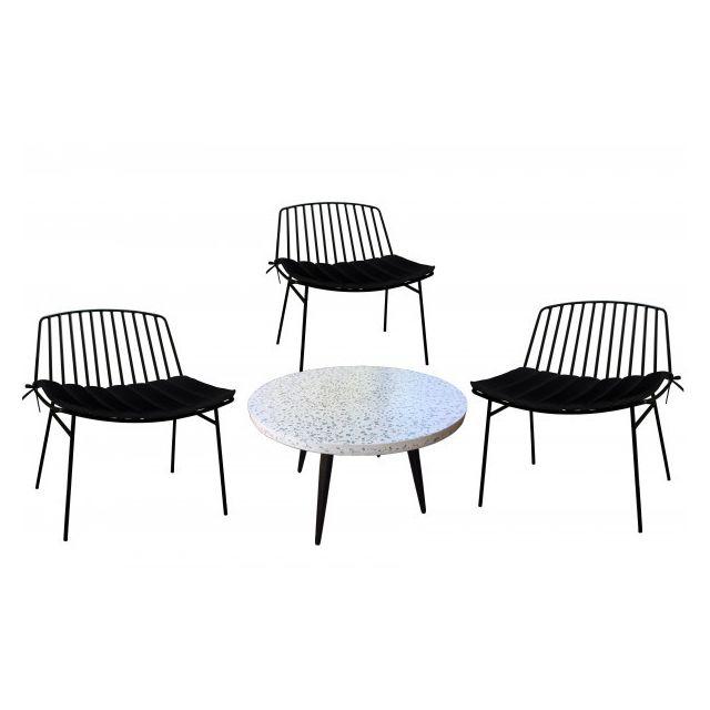 Mathi Design Terrazzo L - Ensemble salon d'extérieur 3 places