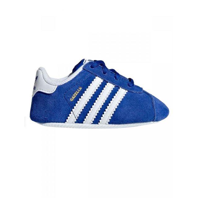 Adidas Baskets gazelle crib bleu bébé pas cher Achat