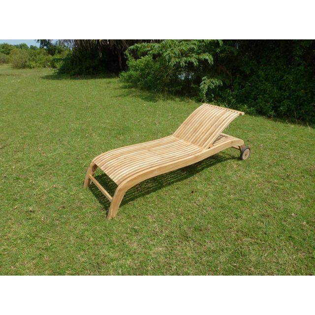 teck 39 line bain de soleil wave naturel pas cher achat vente transats chaises longues. Black Bedroom Furniture Sets. Home Design Ideas