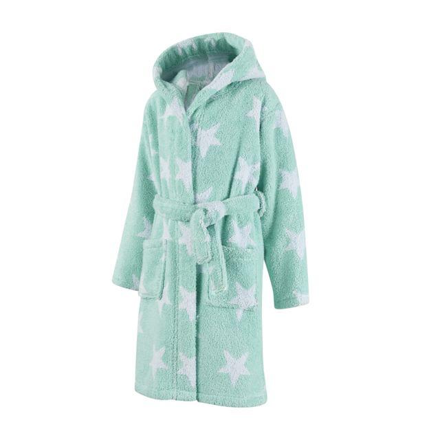 TEX HOME peignoir junior ETOILE en coton Peignoir junior ETOILE en coton 7/8 ans - bleu vert