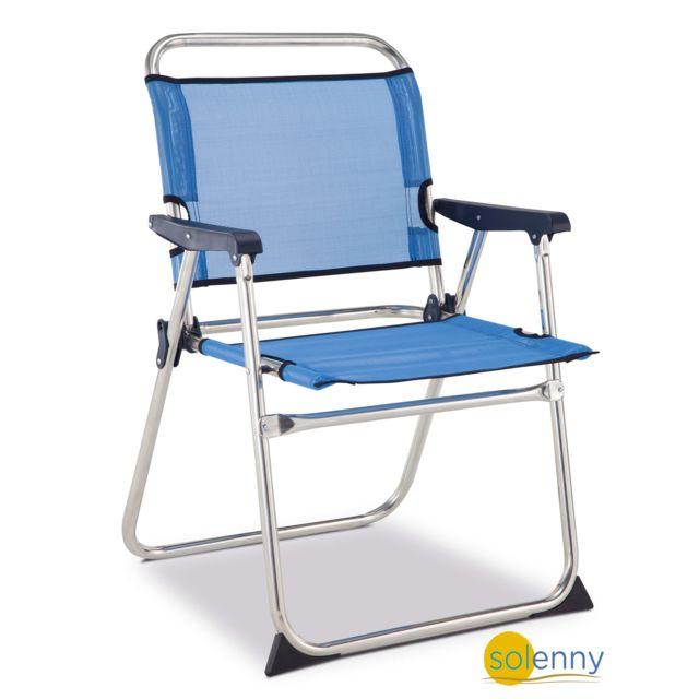 SOLENNY Chaise marine en aluminium et textil�ne