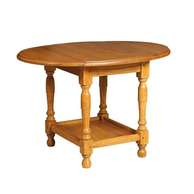 Tousmesmeubles Petite table pliable en Chêne - Berichon