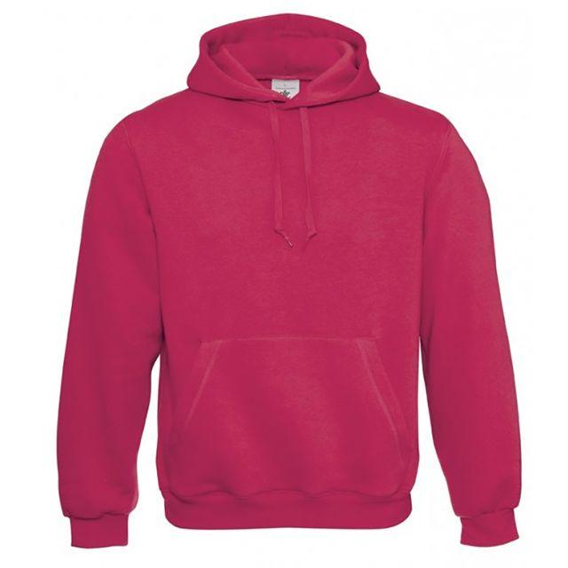 B&C PRO B&C - Sweatshirt à capuche - Homme 2XS, Fuchsia Utbc127